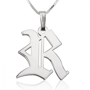 Old English Style Initial Necklace