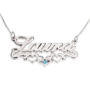 Hearts Name Necklace