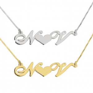 2 Initials Heart Necklace