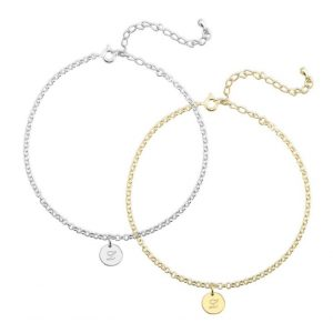 Classic Initial Anklet
