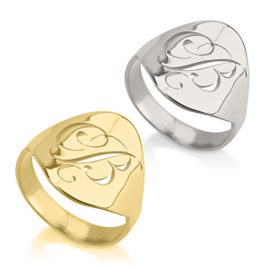 Cut Out Initial Ring