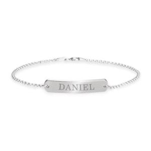 Engraved Bar Bracelet