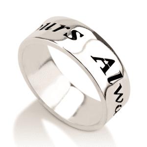 Engraved Handwriting Ring