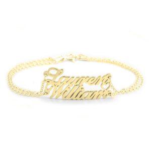 Heart 2 Names Bracelet