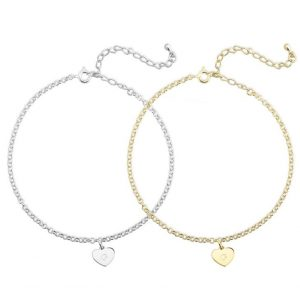 Heart Initial Anklet